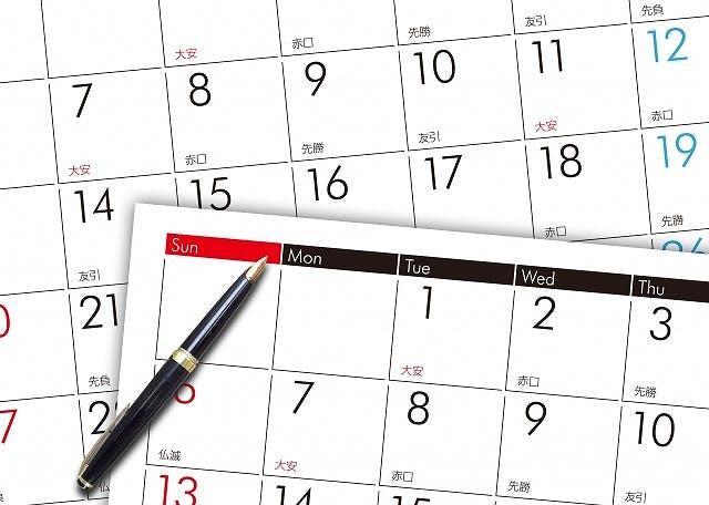 葬儀後の手続きカレンダー